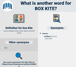 box kite, synonym box kite, another word for box kite, words like box kite, thesaurus box kite