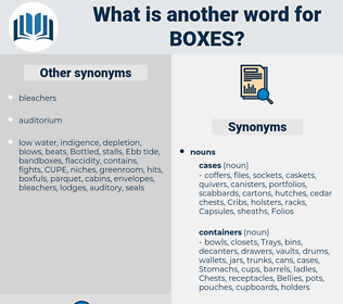 Boxes, synonym Boxes, another word for Boxes, words like Boxes, thesaurus Boxes