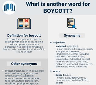 boycott, synonym boycott, another word for boycott, words like boycott, thesaurus boycott