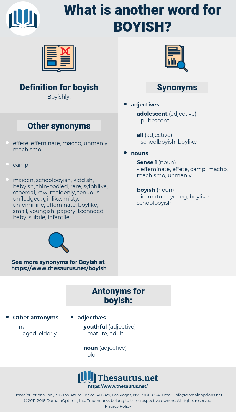 boyish, synonym boyish, another word for boyish, words like boyish, thesaurus boyish