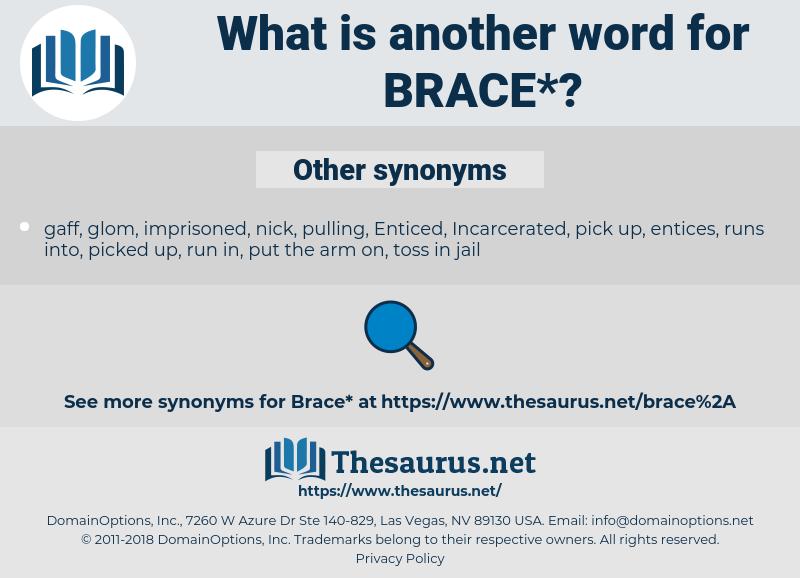 brace, synonym brace, another word for brace, words like brace, thesaurus brace