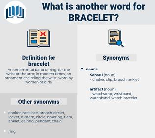 bracelet, synonym bracelet, another word for bracelet, words like bracelet, thesaurus bracelet