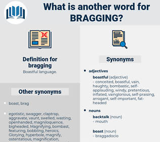 bragging, synonym bragging, another word for bragging, words like bragging, thesaurus bragging