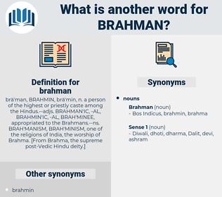 brahman, synonym brahman, another word for brahman, words like brahman, thesaurus brahman