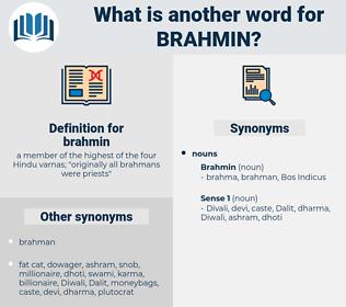 brahmin, synonym brahmin, another word for brahmin, words like brahmin, thesaurus brahmin