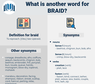 braid, synonym braid, another word for braid, words like braid, thesaurus braid