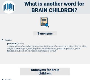 brain children, synonym brain children, another word for brain children, words like brain children, thesaurus brain children
