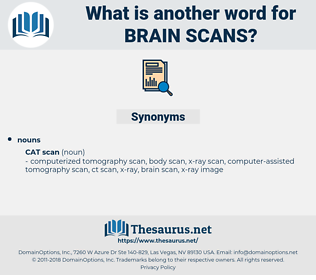 brain scans, synonym brain scans, another word for brain scans, words like brain scans, thesaurus brain scans