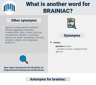 brainiac, synonym brainiac, another word for brainiac, words like brainiac, thesaurus brainiac