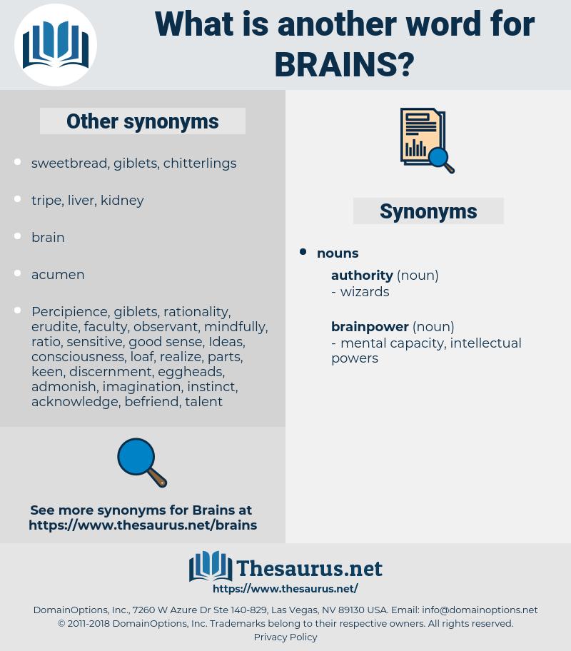 Brains, synonym Brains, another word for Brains, words like Brains, thesaurus Brains