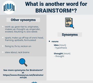 brainstorm, synonym brainstorm, another word for brainstorm, words like brainstorm, thesaurus brainstorm