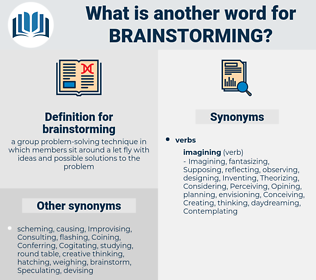 brainstorming, synonym brainstorming, another word for brainstorming, words like brainstorming, thesaurus brainstorming