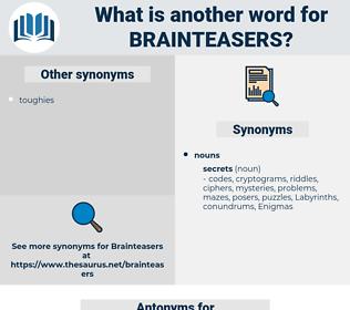 brainteasers, synonym brainteasers, another word for brainteasers, words like brainteasers, thesaurus brainteasers