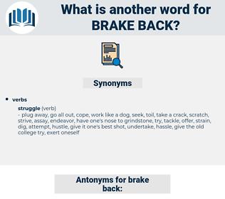 brake back, synonym brake back, another word for brake back, words like brake back, thesaurus brake back