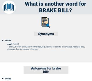 brake bill, synonym brake bill, another word for brake bill, words like brake bill, thesaurus brake bill