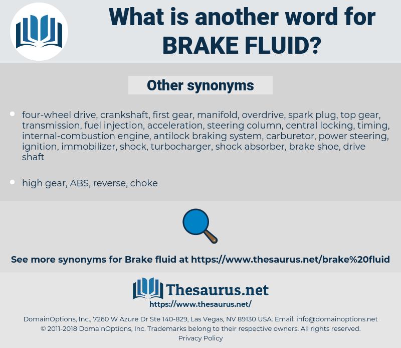 brake fluid, synonym brake fluid, another word for brake fluid, words like brake fluid, thesaurus brake fluid