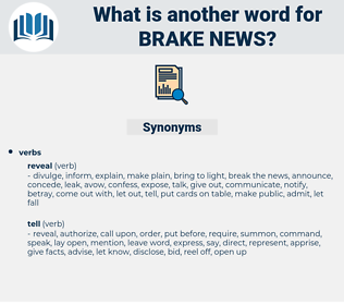 brake news, synonym brake news, another word for brake news, words like brake news, thesaurus brake news