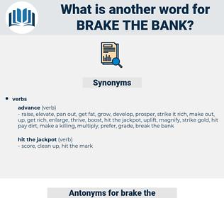 brake the bank, synonym brake the bank, another word for brake the bank, words like brake the bank, thesaurus brake the bank