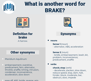 brake, synonym brake, another word for brake, words like brake, thesaurus brake