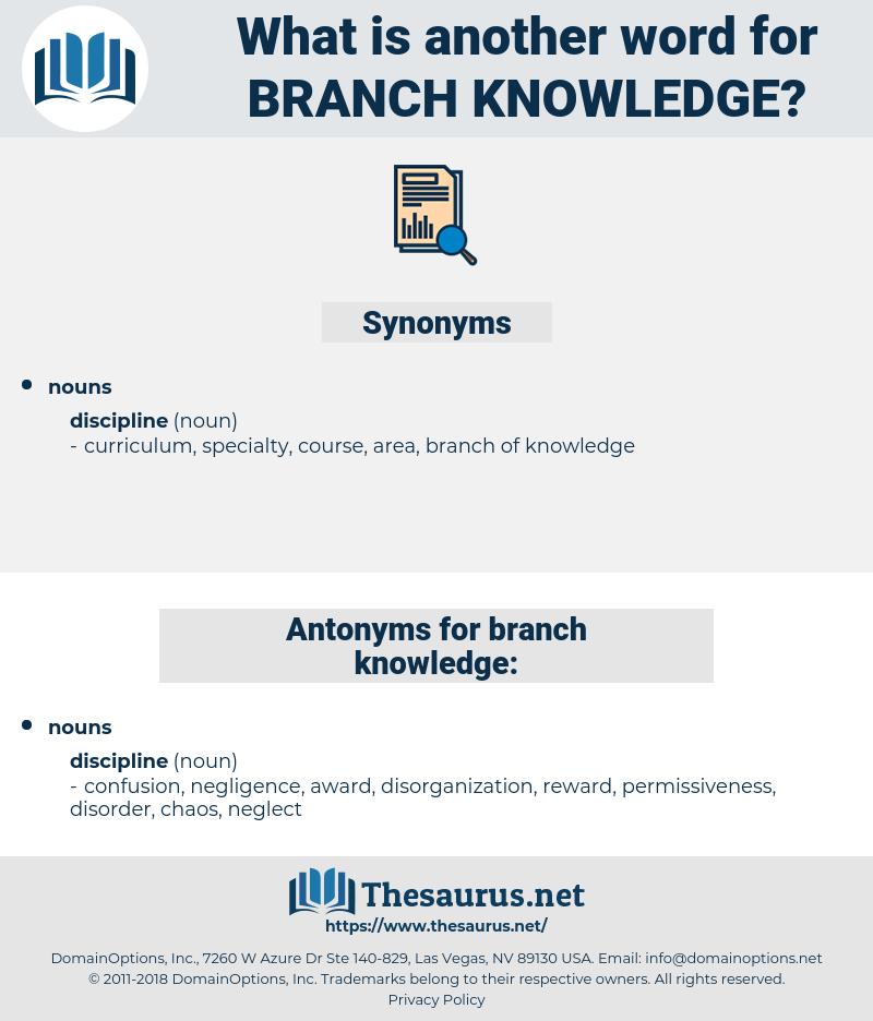 branch knowledge, synonym branch knowledge, another word for branch knowledge, words like branch knowledge, thesaurus branch knowledge