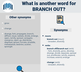 branch out, synonym branch out, another word for branch out, words like branch out, thesaurus branch out