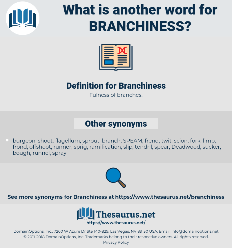 Branchiness, synonym Branchiness, another word for Branchiness, words like Branchiness, thesaurus Branchiness