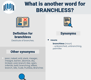 branchless, synonym branchless, another word for branchless, words like branchless, thesaurus branchless