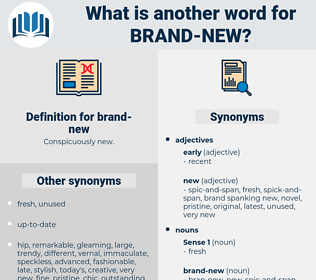 brand-new, synonym brand-new, another word for brand-new, words like brand-new, thesaurus brand-new