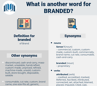 branded, synonym branded, another word for branded, words like branded, thesaurus branded
