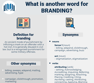 branding, synonym branding, another word for branding, words like branding, thesaurus branding
