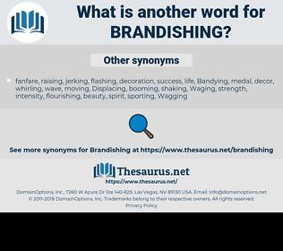 Brandishing, synonym Brandishing, another word for Brandishing, words like Brandishing, thesaurus Brandishing