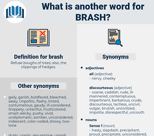 brash, synonym brash, another word for brash, words like brash, thesaurus brash