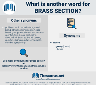 brass section, synonym brass section, another word for brass section, words like brass section, thesaurus brass section