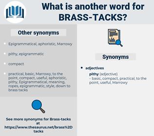 brass tacks, synonym brass tacks, another word for brass tacks, words like brass tacks, thesaurus brass tacks
