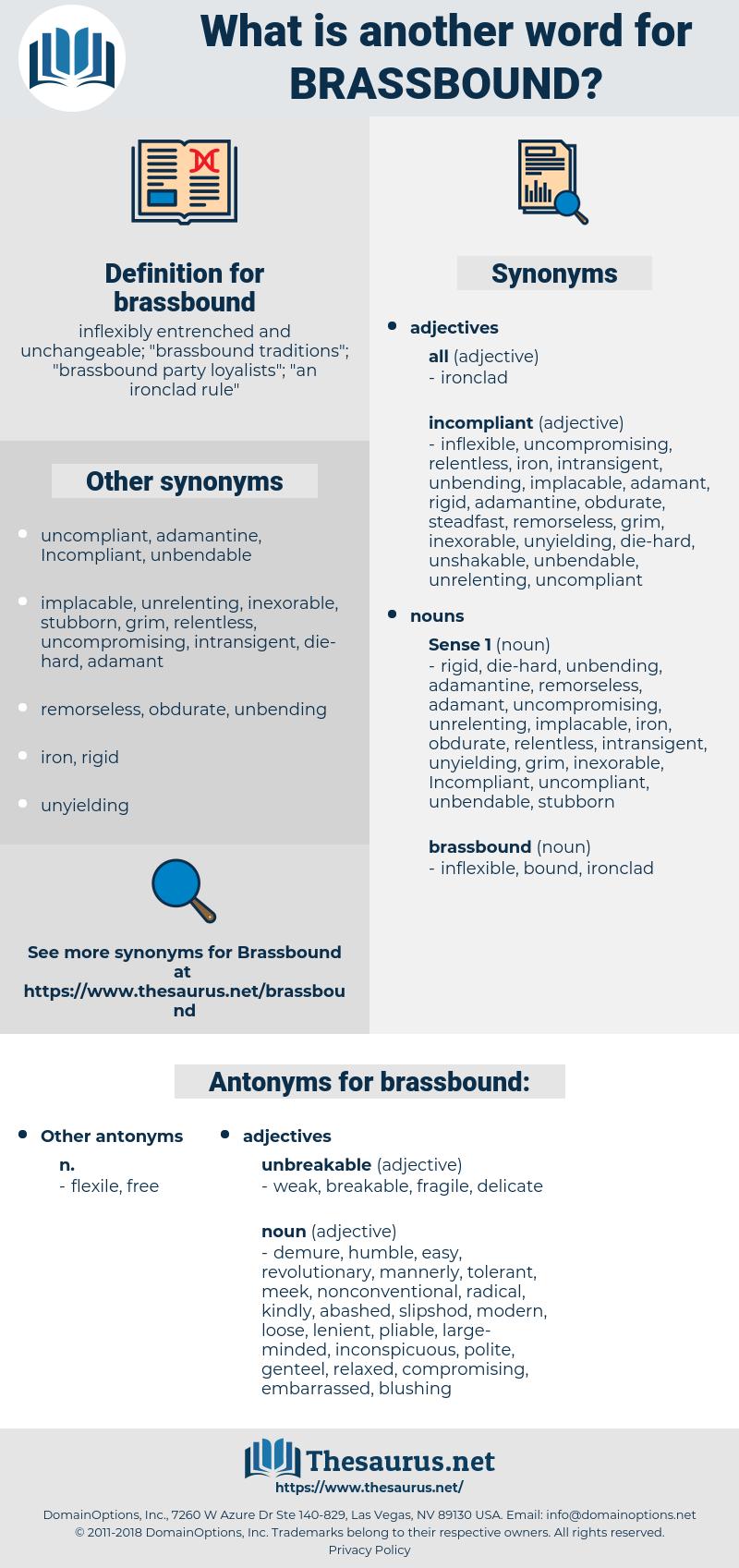 brassbound, synonym brassbound, another word for brassbound, words like brassbound, thesaurus brassbound