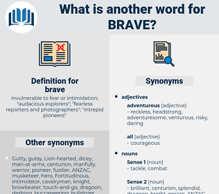 brave, synonym brave, another word for brave, words like brave, thesaurus brave