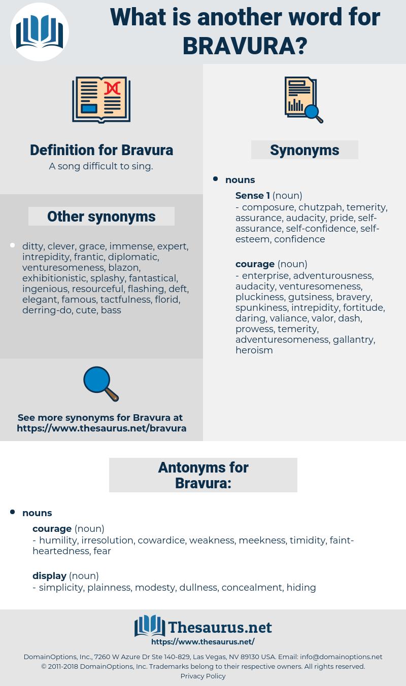 Bravura, synonym Bravura, another word for Bravura, words like Bravura, thesaurus Bravura