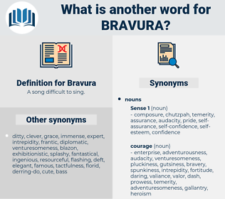 Bravura, synonym Bravura, another word for Bravura, words like Bravura, thesaurus Bravura