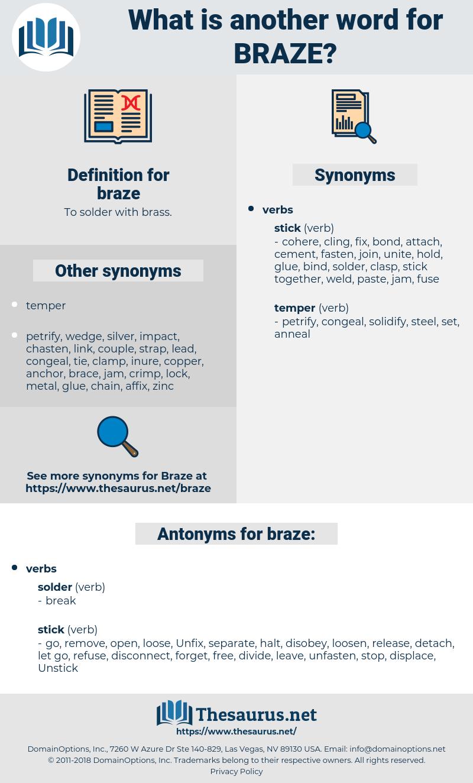 braze, synonym braze, another word for braze, words like braze, thesaurus braze