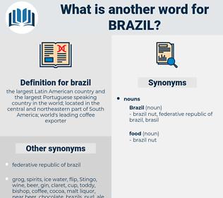 brazil, synonym brazil, another word for brazil, words like brazil, thesaurus brazil