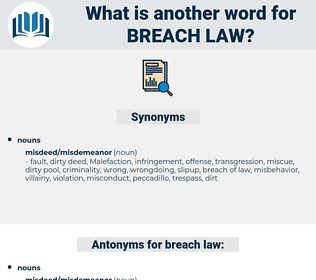 breach law, synonym breach law, another word for breach law, words like breach law, thesaurus breach law