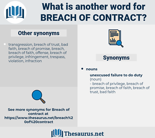 breach of contract, synonym breach of contract, another word for breach of contract, words like breach of contract, thesaurus breach of contract