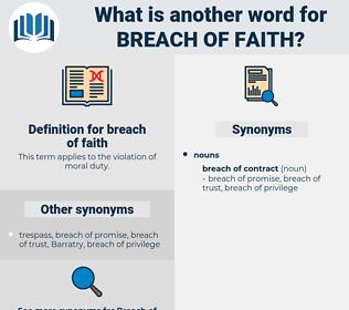 breach of faith, synonym breach of faith, another word for breach of faith, words like breach of faith, thesaurus breach of faith