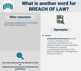 breach of law, synonym breach of law, another word for breach of law, words like breach of law, thesaurus breach of law