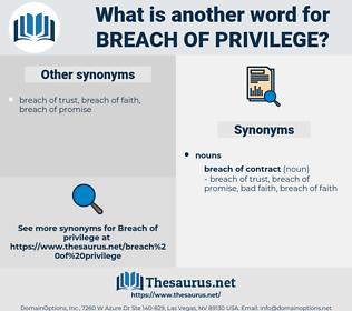 breach of privilege, synonym breach of privilege, another word for breach of privilege, words like breach of privilege, thesaurus breach of privilege