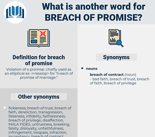 breach of promise, synonym breach of promise, another word for breach of promise, words like breach of promise, thesaurus breach of promise