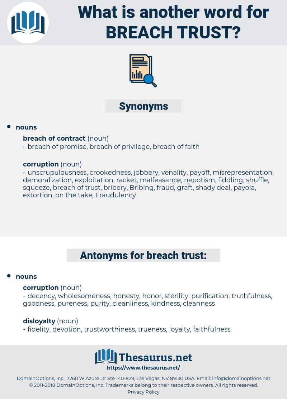 breach trust, synonym breach trust, another word for breach trust, words like breach trust, thesaurus breach trust