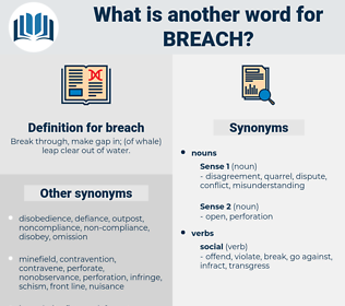 breach, synonym breach, another word for breach, words like breach, thesaurus breach