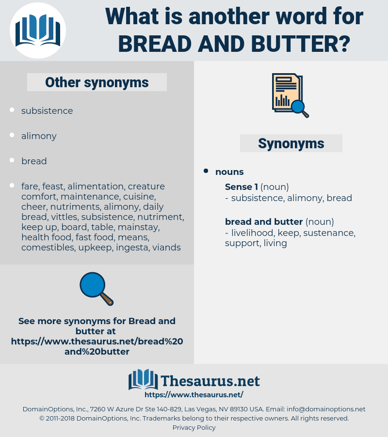bread and butter, synonym bread and butter, another word for bread and butter, words like bread and butter, thesaurus bread and butter
