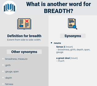 breadth, synonym breadth, another word for breadth, words like breadth, thesaurus breadth